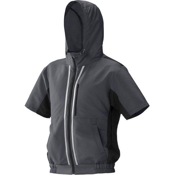 アイリスオーヤマ ファン付き作業服 クールウェア SPORTS 半袖L グレー CSHS-L02-H 1セット(直送品)
