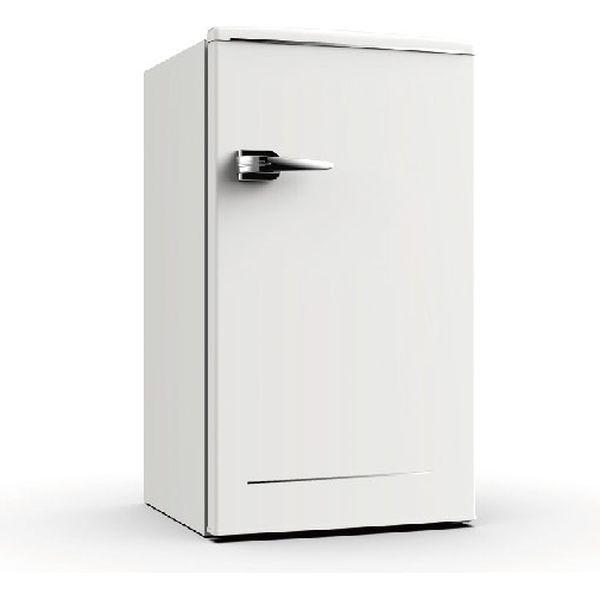 ウィンコド 1ドアレトロ冷蔵庫 85L ホワイト RT-185W 1台(直送品)
