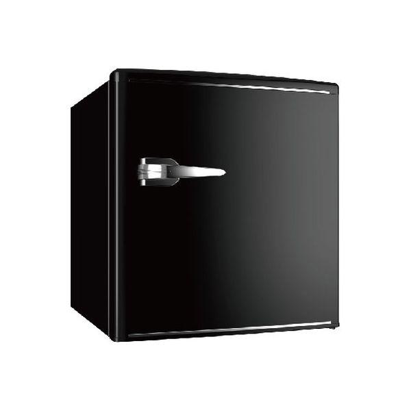 ウィンコド 1ドアレトロ冷蔵庫 48L ブラック RT-148B 1台(直送品)