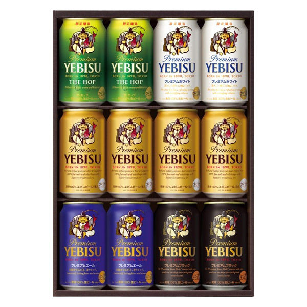 ヱビスビール5種アソート 1箱(12本)