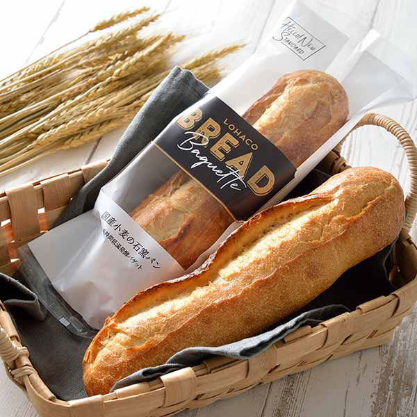 LOHACO BREAD国産小麦の石窯パン 長時間低温発酵バゲット 1袋 敷島製パン ロハコブレッド