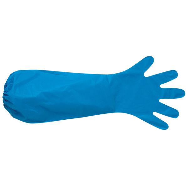 ミドリ安全 ポリエチレンロング手袋 ベルテ590N ブルー 30枚 1箱(30枚) 4049059010(直送品)