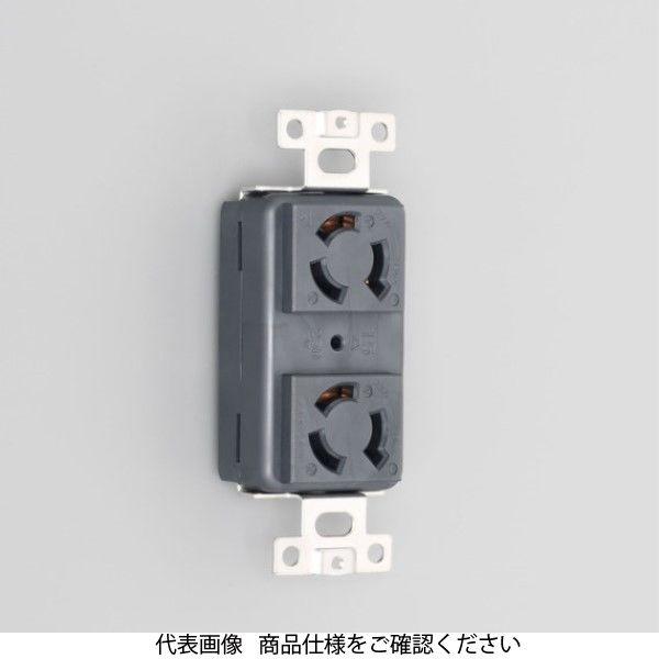 アスクル】アメリカン電機 引掛形複式横埋込コンセント黒 3120HD-BK 1 ...