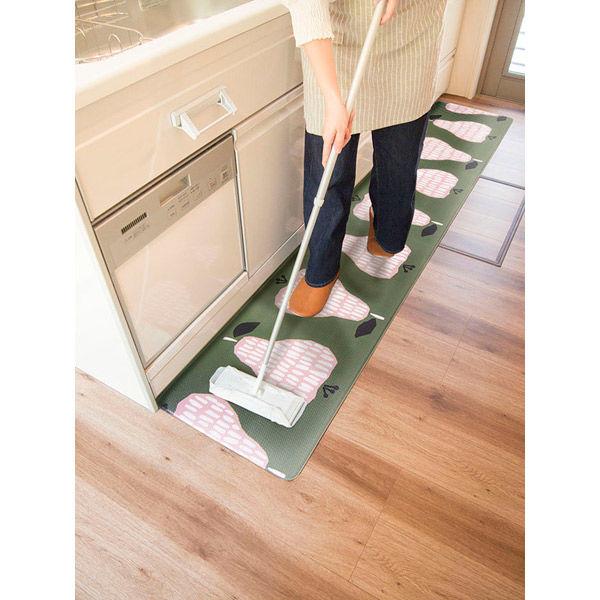 サッと拭けるキッチンマット