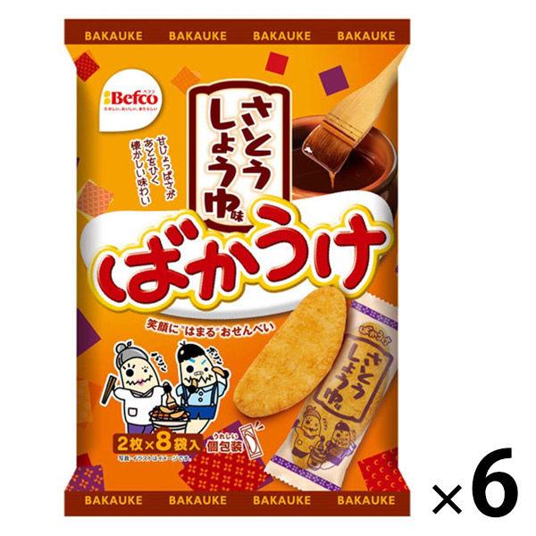 アスクル】ばかうけさとうしょうゆ味 1セット(6袋) 通販 - ASKUL(公式)