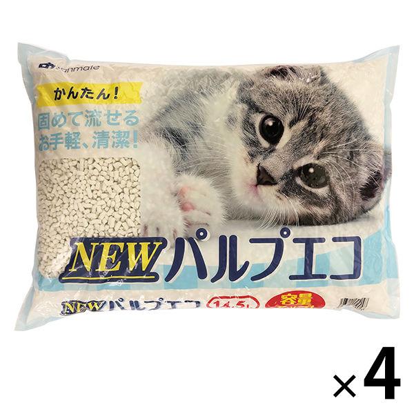 NEWパルプエコ 紙砂 14.5L 4袋