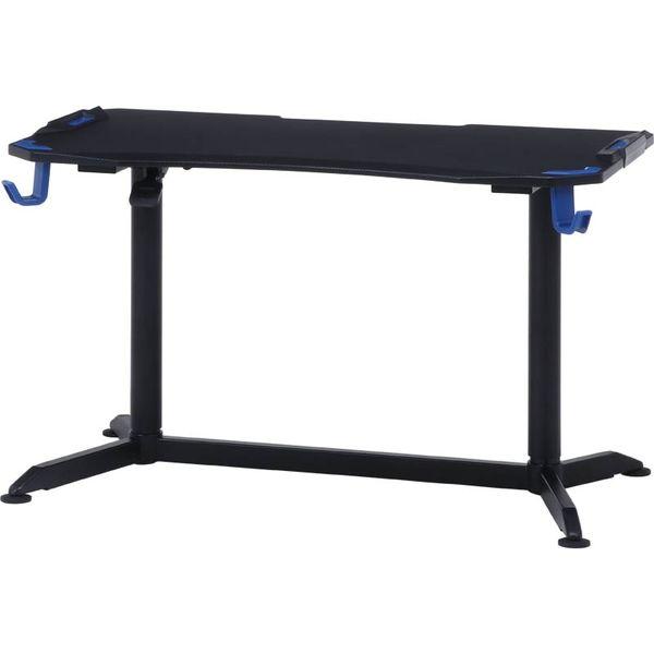 不二貿易 GAMING DESK XeNO(ゼノ)PRO-01 幅1200×奥行650×高さ715~1115mm ブラック/ブルー 38137 1台(直送品)