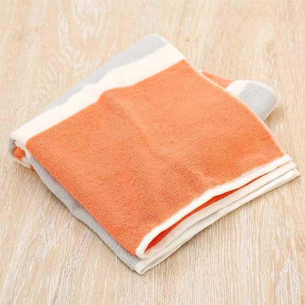 【ロハコ限定】 ミニバスタオル しっかり サーモンピンク 1枚 抗菌防臭加工