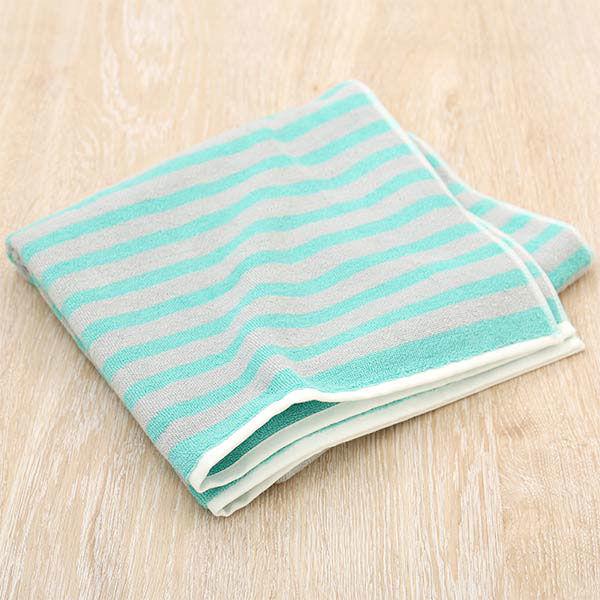 【ロハコ限定】 バスタオル しっかり エメラルドグリーン(緑) 1枚 抗菌防臭加工