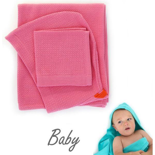 EKOBO ベビーフード付きタオル&体洗いタオルセット-フラミンゴ EB-68814(直送品)