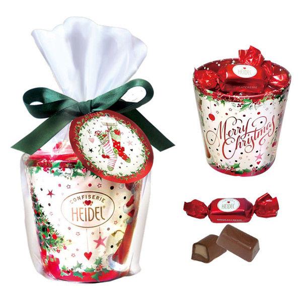クリスマスホワイト キャンドル缶