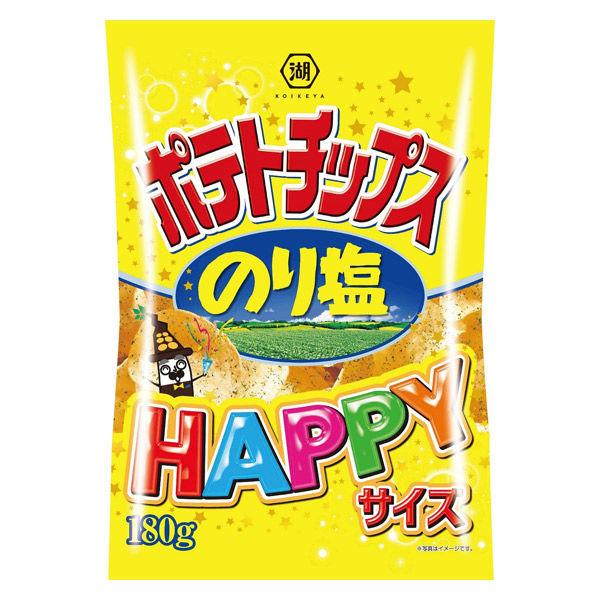 湖池屋 コイケヤポテトチップス HAPPYサイズ のり塩 6袋 スナック菓子