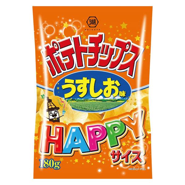 湖池屋 コイケヤポテトチップス HAPPYサイズ うすしお味 3袋 スナック菓子