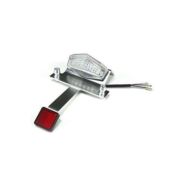 バイクパーツセンター 汎用LEDテールライト ナンバーステーリフレクター付 クリア 313854(直送品)