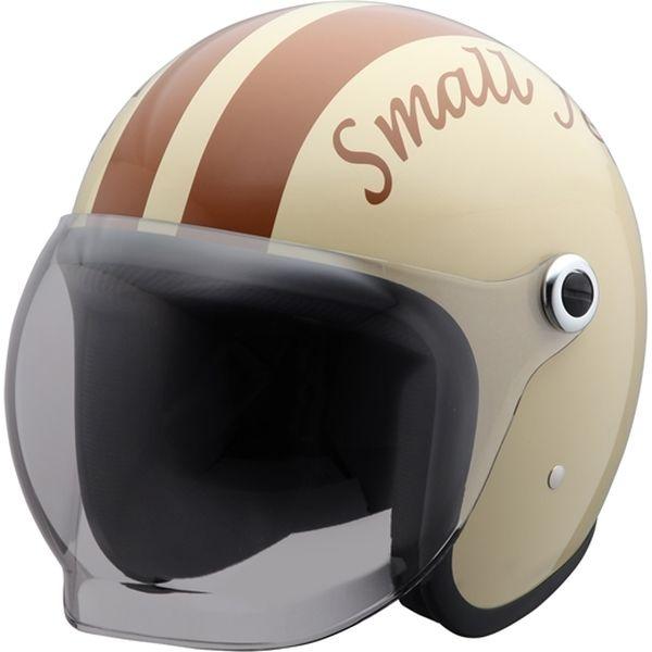 ユニカー工業 スモールジェットヘルメット アイボリー フリーサイズ BH-37IBR(直送品)