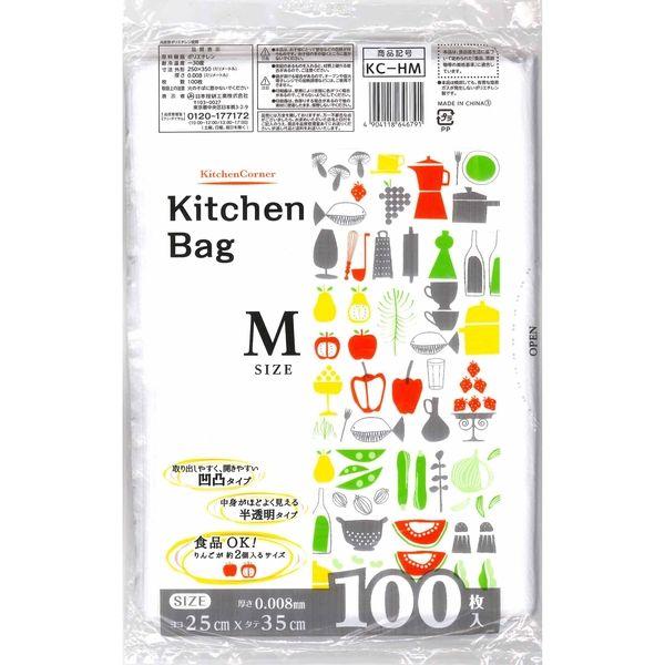 キッチンコーナー キッチンバッグ M KC-HM 1セット(6000枚:1袋100枚入×60袋) 日本技研(取寄品)