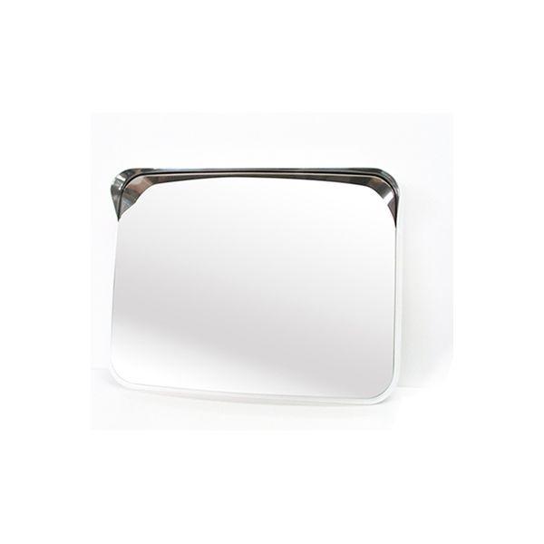 信栄物産 ステンレスミラー 角型 485×375mm(白) S-5W(直送品)