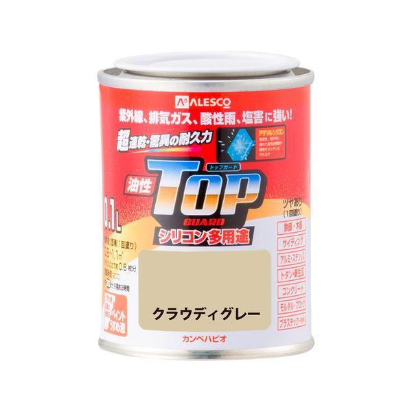 油性トップガード クラウディグレー 0.1L #00017640681001 カンペハピオ(直送品)