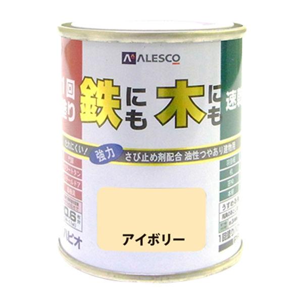 1回塗りハウスペイント アイボリー 0.1L #00027640071001 カンペハピオ(直送品)