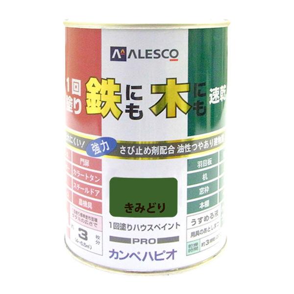 1回塗りハウスペイント きみどり 0.5L #00027640281005 カンペハピオ(直送品)