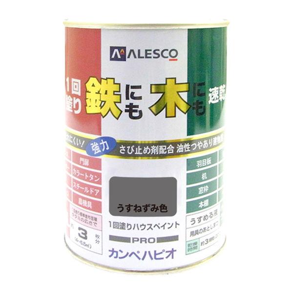 1回塗りハウスペイント うすねずみ色 0.5L #00027640431005 カンペハピオ(直送品)