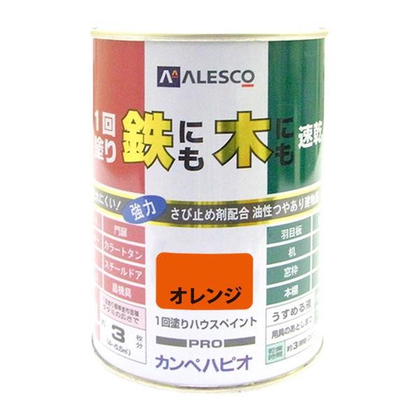 1回塗りハウスペイント オレンジ 0.5L #00027640441005 カンペハピオ(直送品)