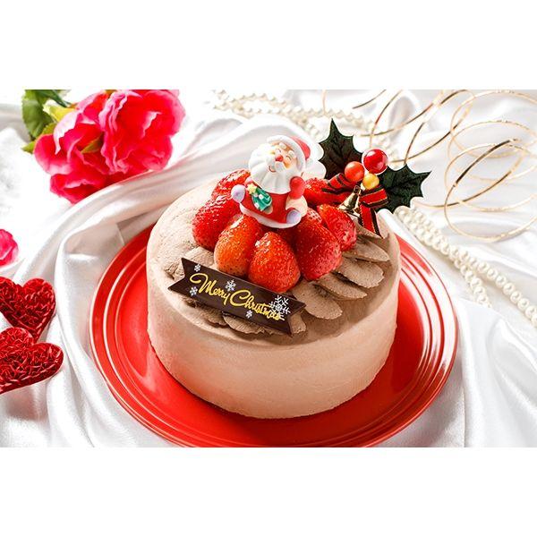 チョコ生デコレーションケーキ 3号