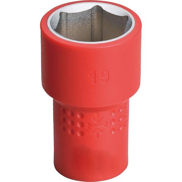 プロスタイルツール(PROSTYLE TOOL) 絶縁六角ソケット 19mm PZ4S-19 1本(直送品)
