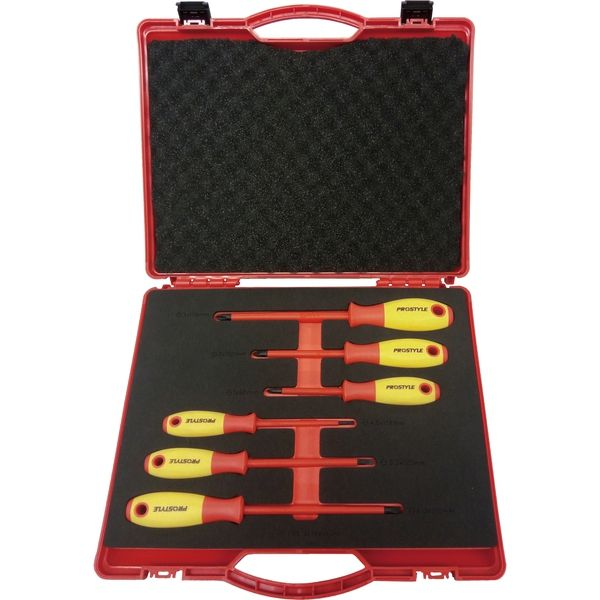 プロスタイルツール(PROSTYLE TOOL) 絶縁工具Sセット ドライバーセット(6点入り) PZ SET S 1セット(直送品)