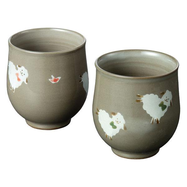 ひつじ組湯呑101841セット西海陶器