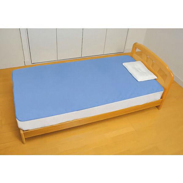 幸和製作所 デニム防水シーツ (全面タイプ) 標準ベッドマットレス対応サイズ ブルー SE06Z 1枚 (直送品)