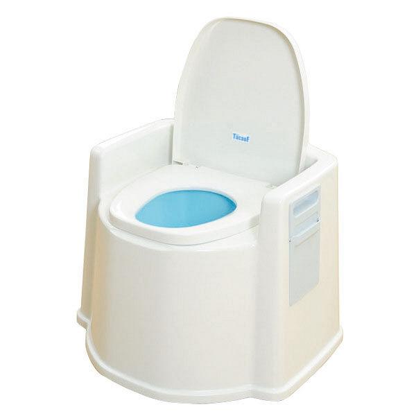 幸和製作所 テイコブポータブルトイレ(肘掛け付) 1台 PT02 (直送品)