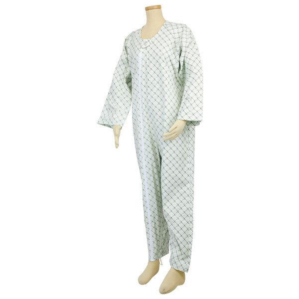 幸和製作所 テイコブエコノミー上下続き服 (介護用パジャマ) サックス LL UW01 (直送品)