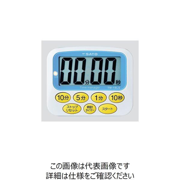 佐藤計量器製作所 大型表示タイマー デカタイマー(R) TM-19LS 1個 8-9267-11(直送品)