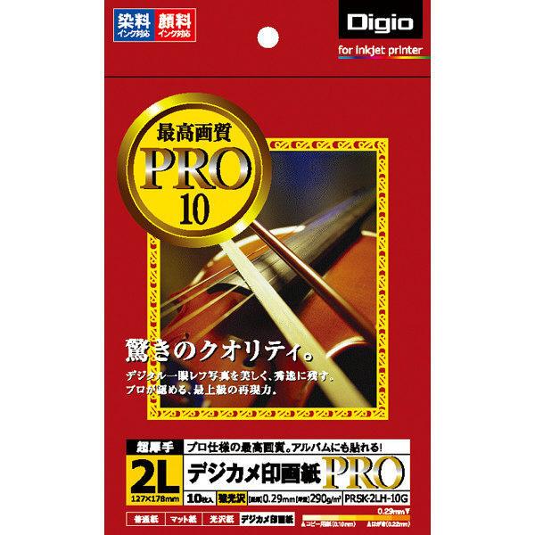 ナカバヤシ デジカメ印画紙PRO/強光沢/2L/10枚 PRSK-2LH-10G 20個 (直送品)