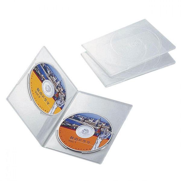 エレコム DVDスリムトールケース 両面収納 3枚パック クリア CCD-DVDS04CR (直送品)