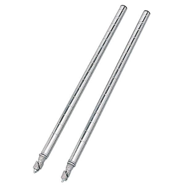 アイリスオーヤマ ポール直径19mm メタルミニ延長ポール 2本セット 高さ490mm MM-45EPW (直送品)