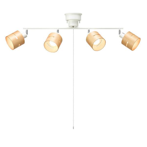 4灯ウッドセードシーリングナチュラル CEX60X01NA ヤザワコーポレーション (直送品)