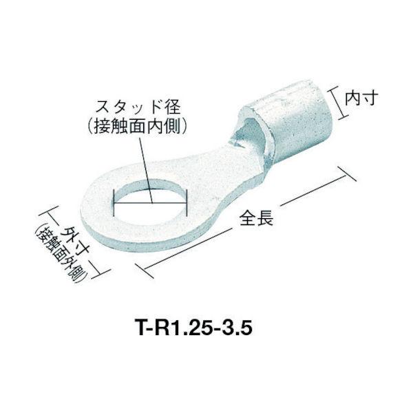 トラスコ中山(TRUSCO) TRUSCO 裸圧着端子丸形φ5.3長さ18.2 (25個入) T-R5.5-5S 790-2972(直送品)