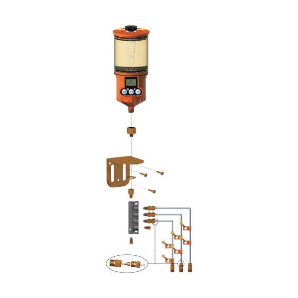 ザーレン・コーポレーション(zahren) パルサールブ OL500オイル用 遠隔設置キット(3箇所) 1250RO-3 1台 792-5034(直送品)