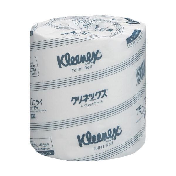 日本製紙クレシア クレシア クリネックストイレットロール 75mシングル 10820 1ケース(6000m) 818-5102(直送品)