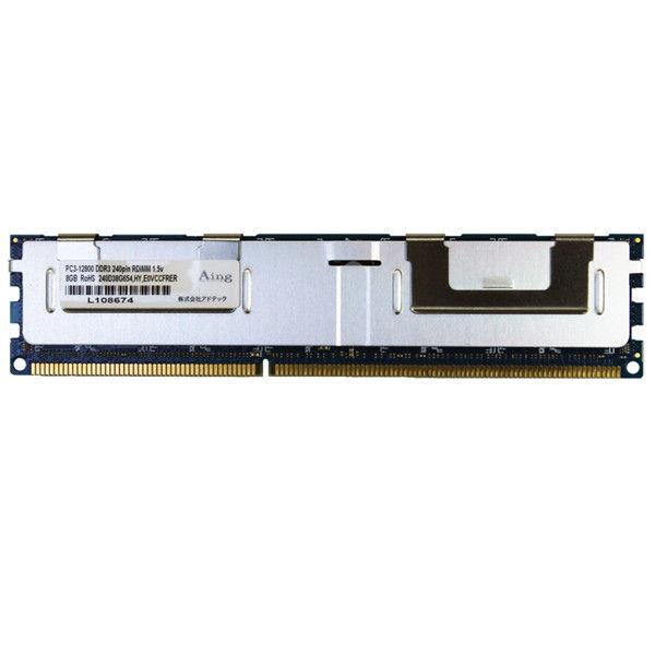 アドテック サーバー用 DDR3ー1600/PC3ー12800 Registered DIMM 16GB DR ADS12800D-R16GD  (直送品)