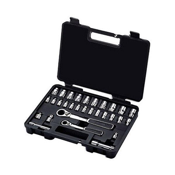 """SATA 1/4""""&3/8"""" DR.ソケットセット【30点】 RS-09132 SATA Tools (直送品)"""