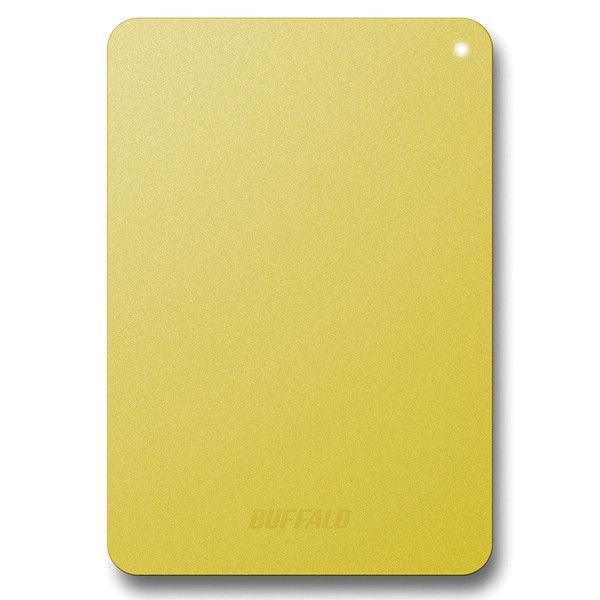 バッファロー 耐衝撃対応 USB3.1(Gen1)/USB3.0用 ポータブルHDD 1TB イエロー HD-PNF1.0U3-BYE 1台  (直送品)