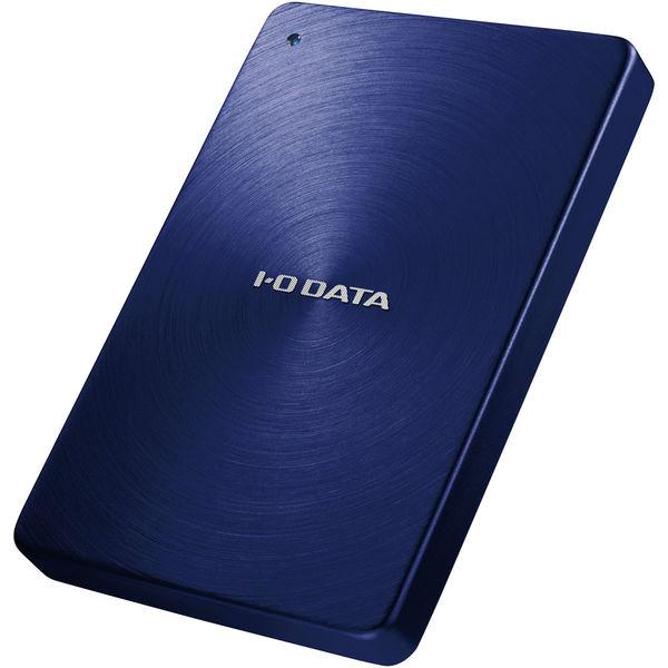 アイ・オー・データ機器 USB3.0/2.0対応 ポータブルハードディスク 「カクうす」 2.0TB ブルー HDPX-UTA2.0B 1台  (直送品)