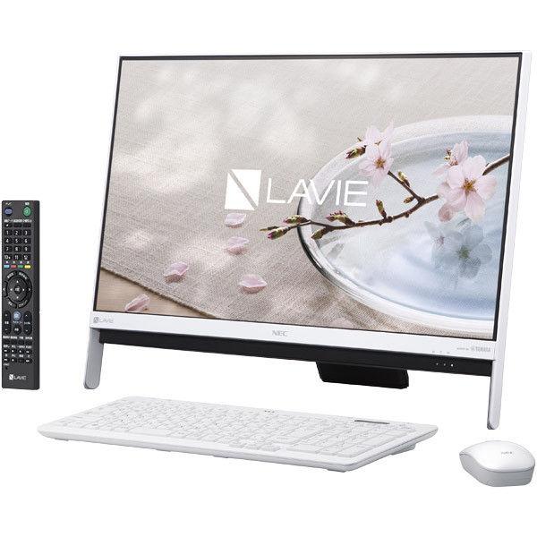 NECパーソナルコンピュータ LAVIE Desk Allーinーone ー DA370/GAW ファインホワイト PC-DA370GAW 1台  (直送品)