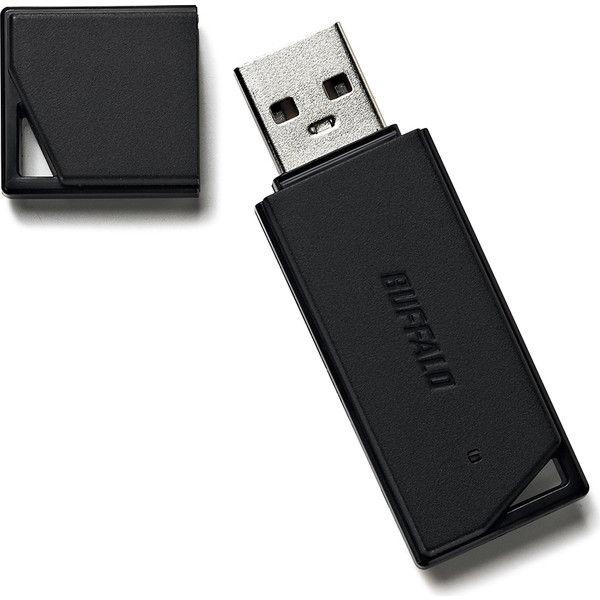 バッファロー USB2.0 どっちもUSBメモリー 8GB ブラック RUF2-KR8GA-BK 1台  (直送品)