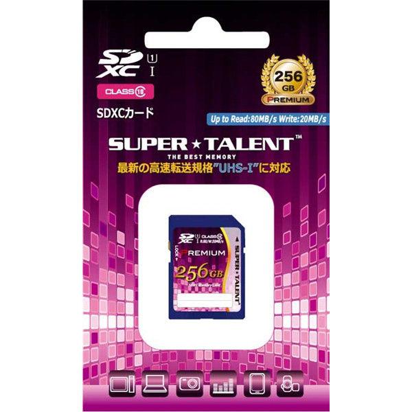SuperTalent UHSーI SDXCメモリーカード 256GB Class10 ST56SU1P 1個  (直送品)