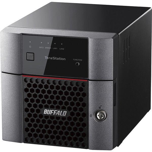 バッファロー TeraStation TS3210DNシリーズ 小規模オフィス・SOHO向け 2ドライブNAS 8TB TS3210DN0802  (直送品)