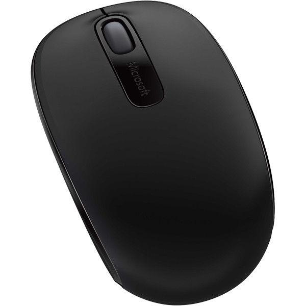 マイクロソフト 無線(ワイヤレス)マウス Wireless Mobile Mouse1850 ブラック 光学式/3ボタン/3年保証 U7Z-00007(直送品)